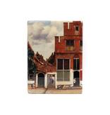 Meister auf Holz, Vermeers kleine Straße, 265 x 195mm