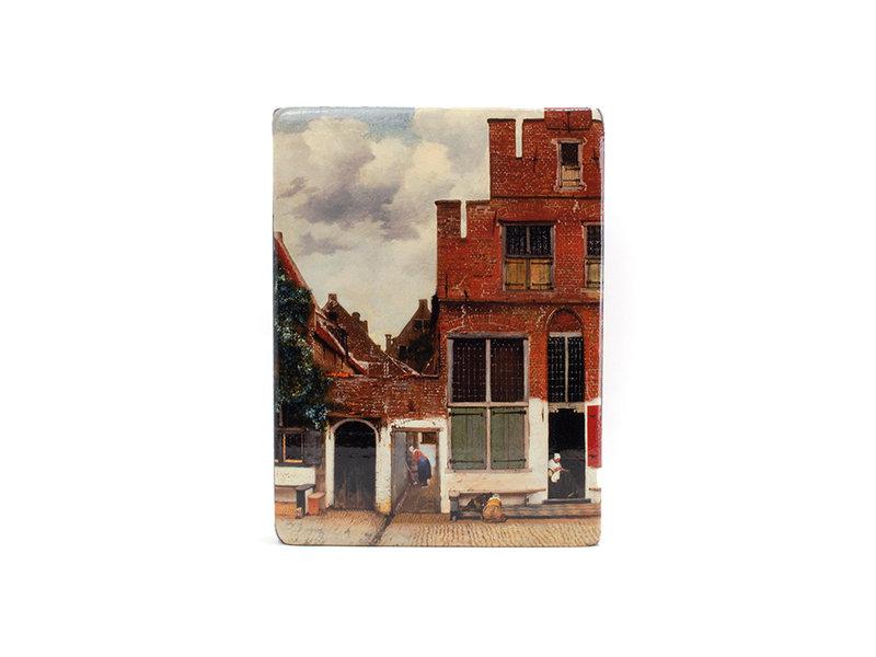 Meesterwerk-op-hout, Het straatje van Vermeer, 265 x 195mm