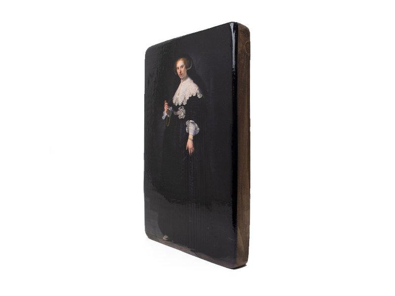 Maestros en madera,  Rembrandt, Oopjen, Rijksmuseum, 300 x 195mm