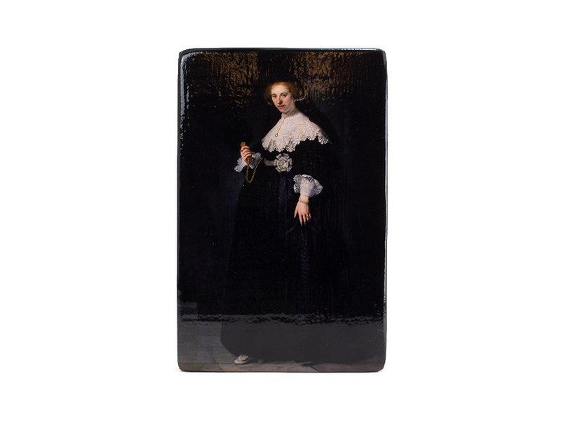 Masters-on-wood,  Rembrandt, Oopjen, Rijksmuseum, 300 x 195mm