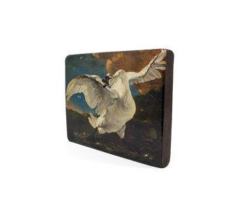 Masters-on-wood, De bedreigde zwaan, Asselijn