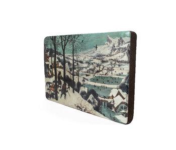 Maestros en madera, Bruegel, Cazadores en la nieve