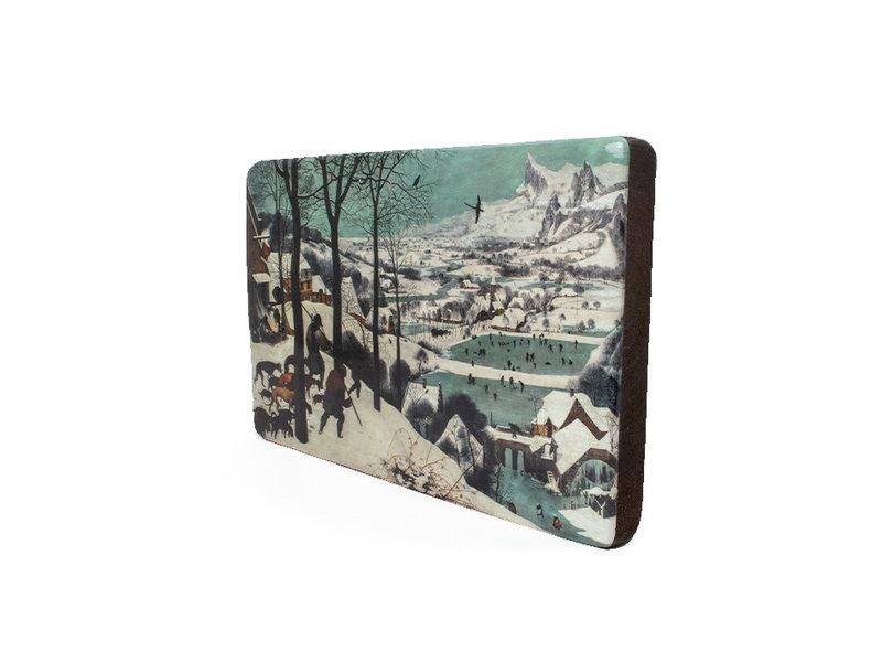 Meesterwerk-op-hout, Breughel, Jagers in de sneeuw, 300  x  195 mm