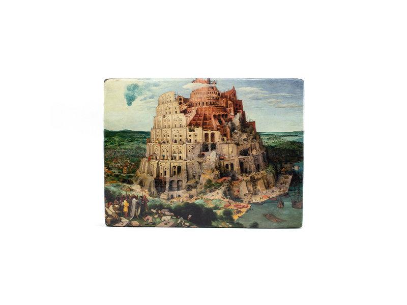 Meesterwerk-op-hout, Breughel, Toren van Babel, 265 x  195 mm