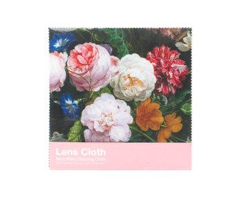 Tissu pour lentilles, 15x15 cm, Nature morte aux fleurs, De Heem