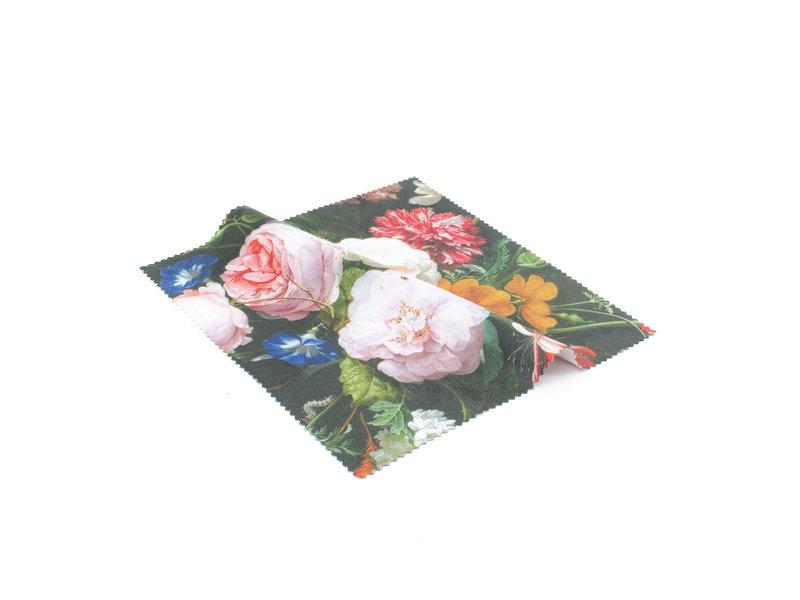 Brillendoekje, 15x15, Stilleven met bloemen, De Heem
