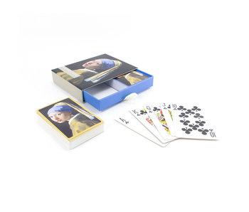 Set van 2 kaartspellen, Vermeer, Meisje met de parel