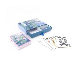 Juego de 2 juegos de cartas, Monet, lirios de agua