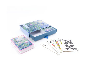 Set van 2 kaartspellen, Monet, Waterlelies