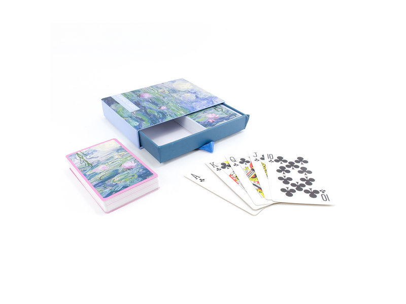 Set mit 2 Kartenspielen, Monet, Seerosen