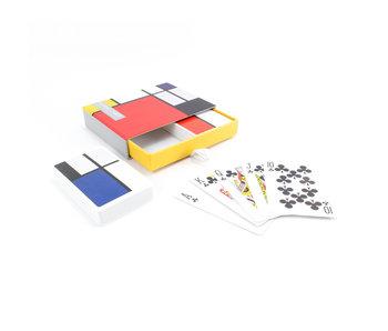 Set mit 2 Kartenspielen, Piet Mondriaan