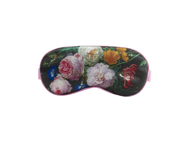 Máscara para dormir, naturaleza muerta de flores, De Heem