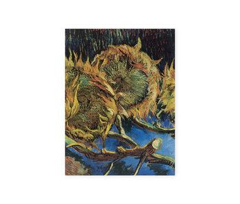 Artist Journal,  Vier uitgebloeide zonnebloemen, Van Gogh