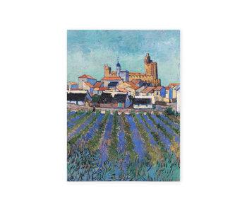Diario del artista,  Vista de Saintes-Maries-de-la-Mer, Van Gogh