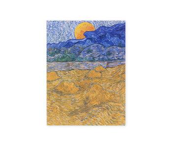 Cahier d'artiste, Paysage avec des gerbes de blé, Van Gogh