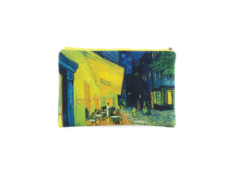Federmäppchen / Schminktasche, , Terrasse eines Cafés bei Nacht, Van Gogh