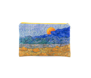 Neceser, Paisaje con gavillas de trigo, Van Gogh