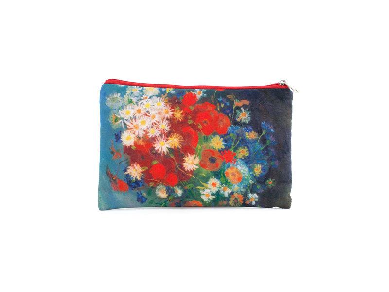 Federmäppchen / Schminktasche, Stillleben mit Feldblumen und Rosen, Van Gogh