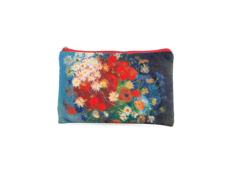 Estuche para lápices / neceser, Bodegón con flores y rosas de campo, Van Gogh