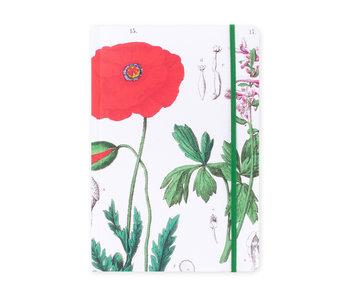 Cuaderno de tapa blanda, A5, Amapola, Hortus Botanicus