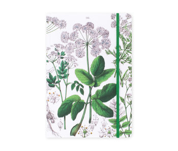 Cuaderno de tapa blanda, A5, Baya del saúco, Hortus Botanicus