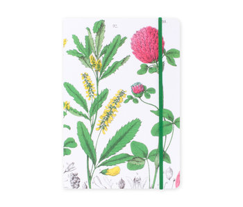 Cuaderno de tapa blanda, A5, Flor de trébol rojo, Hortus Botanicus