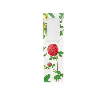 Marcador con lupa, Flor de trébol rojo, Hortus Botanicus