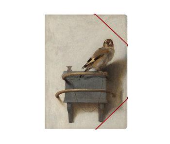 Carpeta archivadora de papel con cierre elástico, A4,  El jilguero, Fabritius