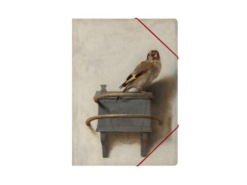 Aktenordner mit elastischem Verschluss, A4,  Der Stieglitz, Fabritius