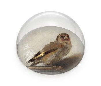 Glazen bolle  presse papier, Carel Fabritius, Het Puttertje