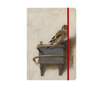 Cuaderno de tapa blanda, A5,  El jilguero, Carel Fabritius