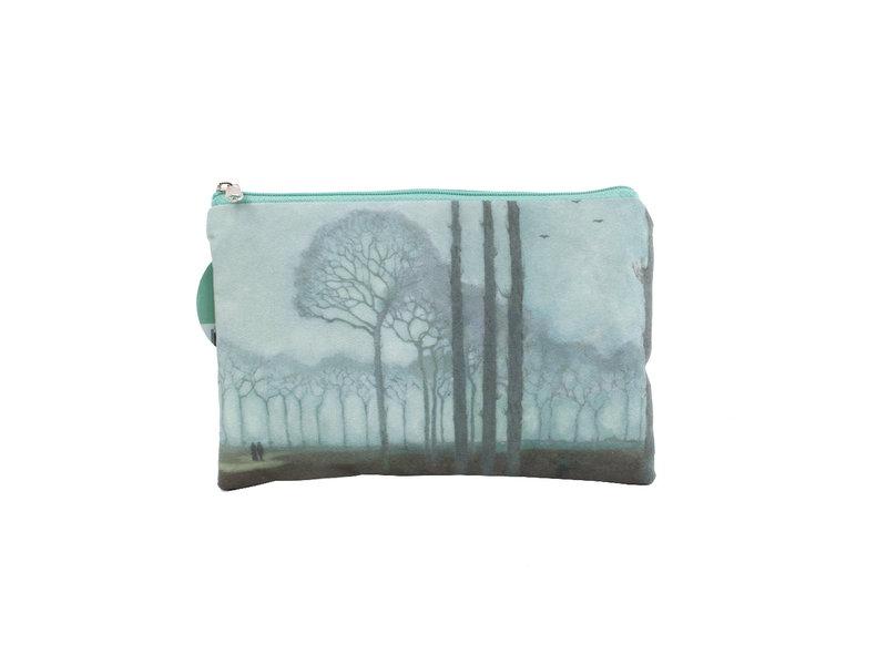 Trousse / trousse à maquillage,  Jan Mankes, Rangée d'arbres
