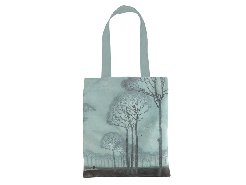 Cotton Tote Bag Luxe, Jan Mankes, Row of trees