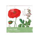 Chiffon de nettoyage pour lunettes,15 x 15 cm, Coquelicot, Hortus Botanicus