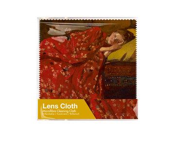 Brillentuch, 15 x 15 cm, Breitner, Mädchen im roten Kimono