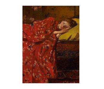 Cahier d'artiste, Breitner, Fille en kimono rouge