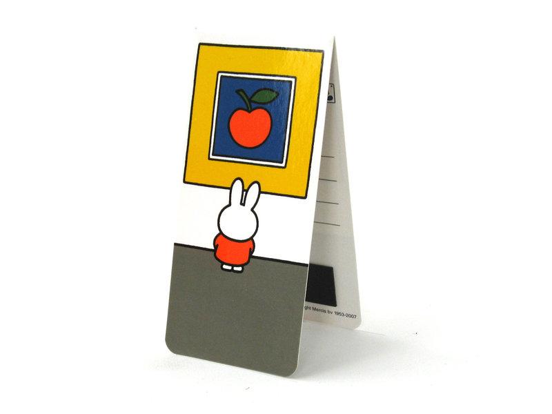 3er Set, magnetisches Lesezeichen, Miffy im Museum