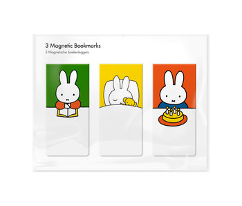 Set of 3, Magnetic bookmark, Miffy at home