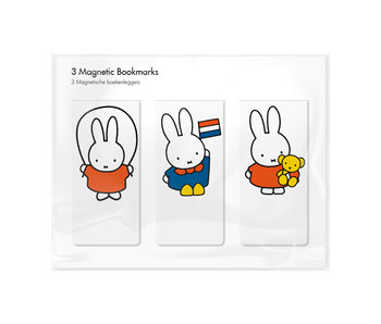 Set of 3, Magnetic bookmark, Miffy is playing!