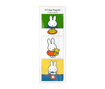 Magnets, Set of 3, Miffy at home