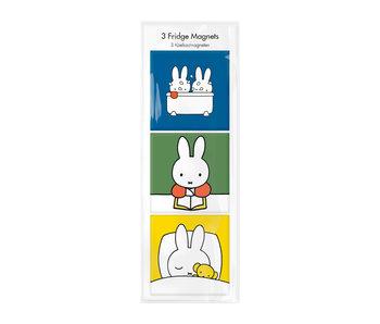 Kühlschrankmagnete, 3er-Set, Miffy geht schlafen