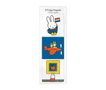 Aimants pour réfrigérateur, lot de 3, Miffy en vacances
