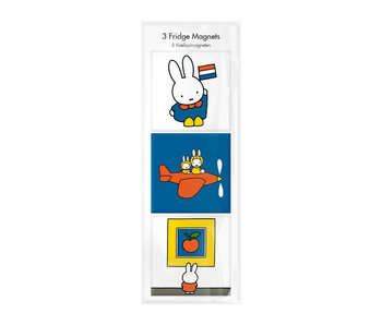 Fridge magnets, Set of 3, Miffy on vacation