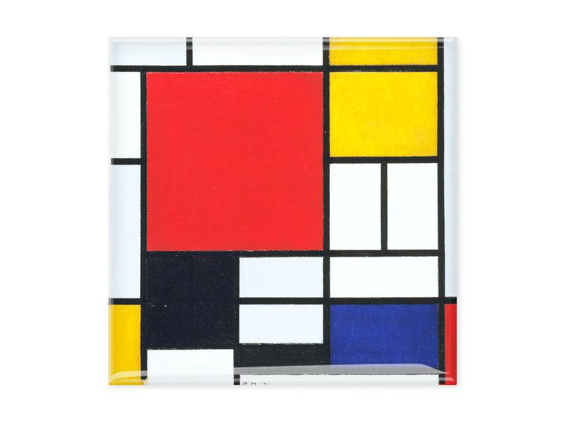 Fridge magnets, Set of 3, Mondrian