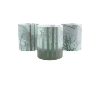 Candle shade , Jan Mankes, Row of trees