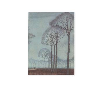 Diario del artista,  Jan Mankes, fila de árboles
