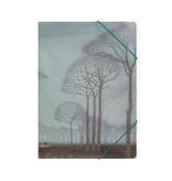 Carpeta archivadora de papel con cierre elástico, Mankes, hilera de árboles