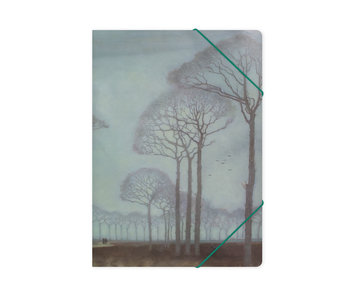 Paper file folder with elastic closure,A4,Mankes, Row of Trees