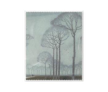 Brillenputztuch , 15 x 18 cm, Baumreihe, Mankes