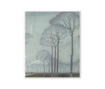 Lens cloth, 15 x 18 cm, Row of trees, Mankes